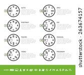 info camera mode dial set  auto ... | Shutterstock .eps vector #263674157