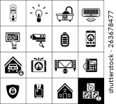 smart house computer electronic ... | Shutterstock .eps vector #263678477