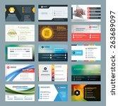 vector set of modern creative... | Shutterstock .eps vector #263689097