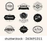 set of retro vintage badges and ... | Shutterstock .eps vector #263691311