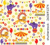 seamless pattern with cute... | Shutterstock . vector #263691374