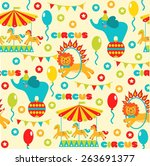 seamless pattern with cute... | Shutterstock . vector #263691377