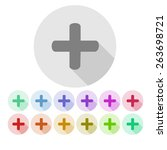 set of plus icons | Shutterstock .eps vector #263698721