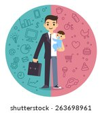 illustration of the concept of... | Shutterstock .eps vector #263698961