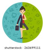 illustration of the concept of... | Shutterstock .eps vector #263699111
