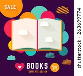 vector template with open book | Shutterstock .eps vector #263699774