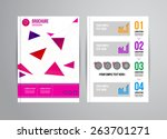 vector illustration with... | Shutterstock .eps vector #263701271