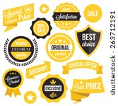 badges  stickers  ribbons and... | Shutterstock .eps vector #263712191
