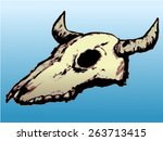 coloured illustration of cow...   Shutterstock .eps vector #263713415