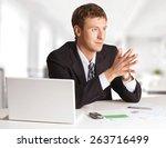 manager  men  computer.   Shutterstock . vector #263716499