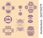 calligraphic ornament elements... | Shutterstock .eps vector #263720279