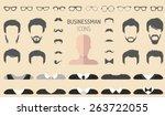 big vector set of dress up... | Shutterstock .eps vector #263722055