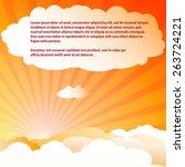 sun   clouds template. vector... | Shutterstock .eps vector #263724221