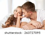 couple  happiness  young couple. | Shutterstock . vector #263727095