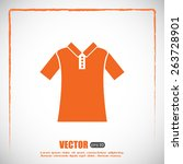 vector icon t shirt  | Shutterstock .eps vector #263728901