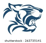 tiger head abstract | Shutterstock .eps vector #263735141