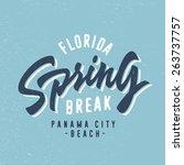 spring break   panama beach... | Shutterstock .eps vector #263737757