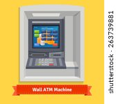 wall mounted outdoor atm... | Shutterstock .eps vector #263739881