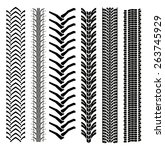 set of tire shapes isolated on... | Shutterstock .eps vector #263745929