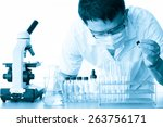 male medical or scientific... | Shutterstock . vector #263756171