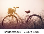 beautiful landscape image with... | Shutterstock . vector #263756201