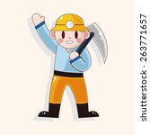worker theme elements  | Shutterstock . vector #263771657