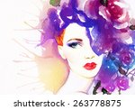 woman portrait .abstract... | Shutterstock . vector #263778875