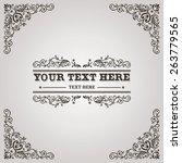 vintage calligraphic flourish... | Shutterstock .eps vector #263779565