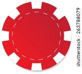 red poker chip vector isolated   Shutterstock .eps vector #263788079