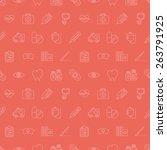 hospital line icon pattern set | Shutterstock .eps vector #263791925