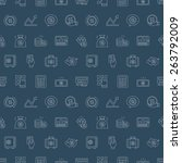 business finance line icon... | Shutterstock .eps vector #263792009
