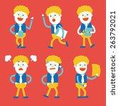 character illustration design.... | Shutterstock .eps vector #263792021