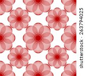 seamless pattern of simple...   Shutterstock .eps vector #263794025