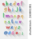 set of lower case alphabets and ...   Shutterstock .eps vector #263801381