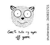tarsius tarsier in love  vector ... | Shutterstock .eps vector #263821721