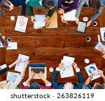 team teamwork discussion... | Shutterstock . vector #263826119
