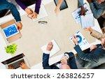 diversity business team... | Shutterstock . vector #263826257