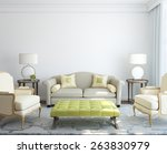 modern living room interior. 3d ... | Shutterstock . vector #263830979