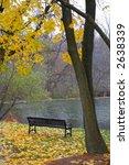 single bench in a park | Shutterstock . vector #2638339
