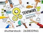 teamwork team together... | Shutterstock . vector #263833961