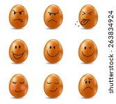emotional eggs collection....   Shutterstock .eps vector #263834924
