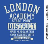 london army typography  t shirt ... | Shutterstock .eps vector #263835281