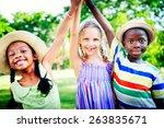 diversity children childhood... | Shutterstock . vector #263835671