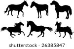 set of horse silhouette... | Shutterstock .eps vector #26385847