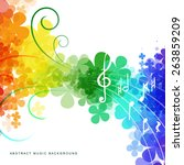 colorful abstract rainbow... | Shutterstock .eps vector #263859209