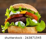 Big Burger With Beef Cutlet An...