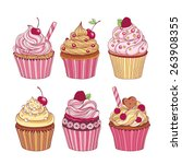 Pack Of Six Cupcakes With...