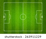green grass soccer field... | Shutterstock .eps vector #263911229