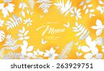 abstract flora background 05 | Shutterstock .eps vector #263929751