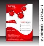 vector flyer  brochure ... | Shutterstock .eps vector #263931341